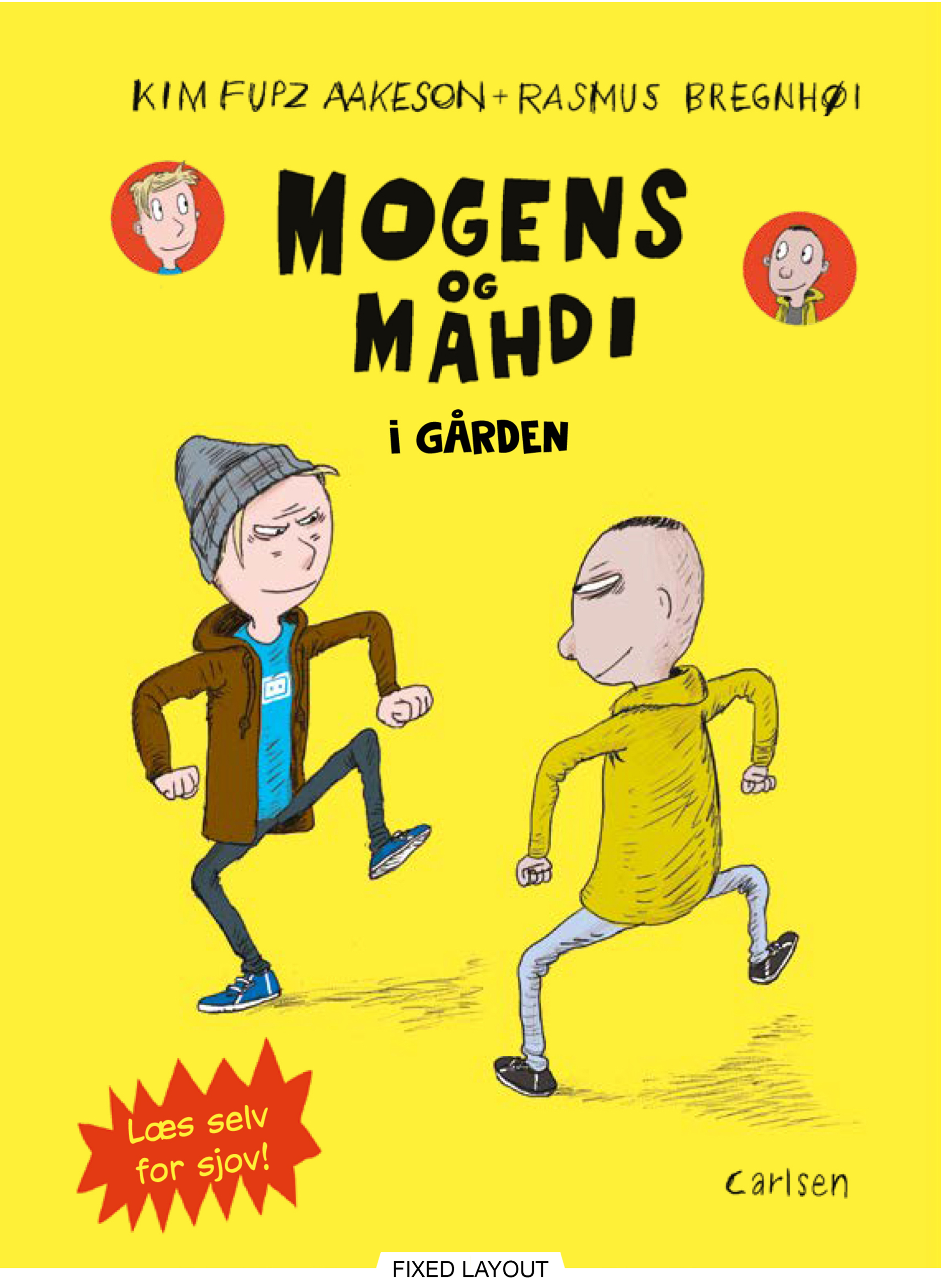 Mogens og Mahdi i gården - Maneno