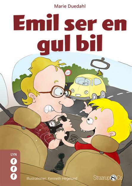 Emil ser en gul bil - Maneno
