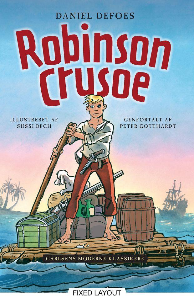 Carlsens Moderne Klassikere 1: Daniel Defoes Robinson Crusoe - Maneno